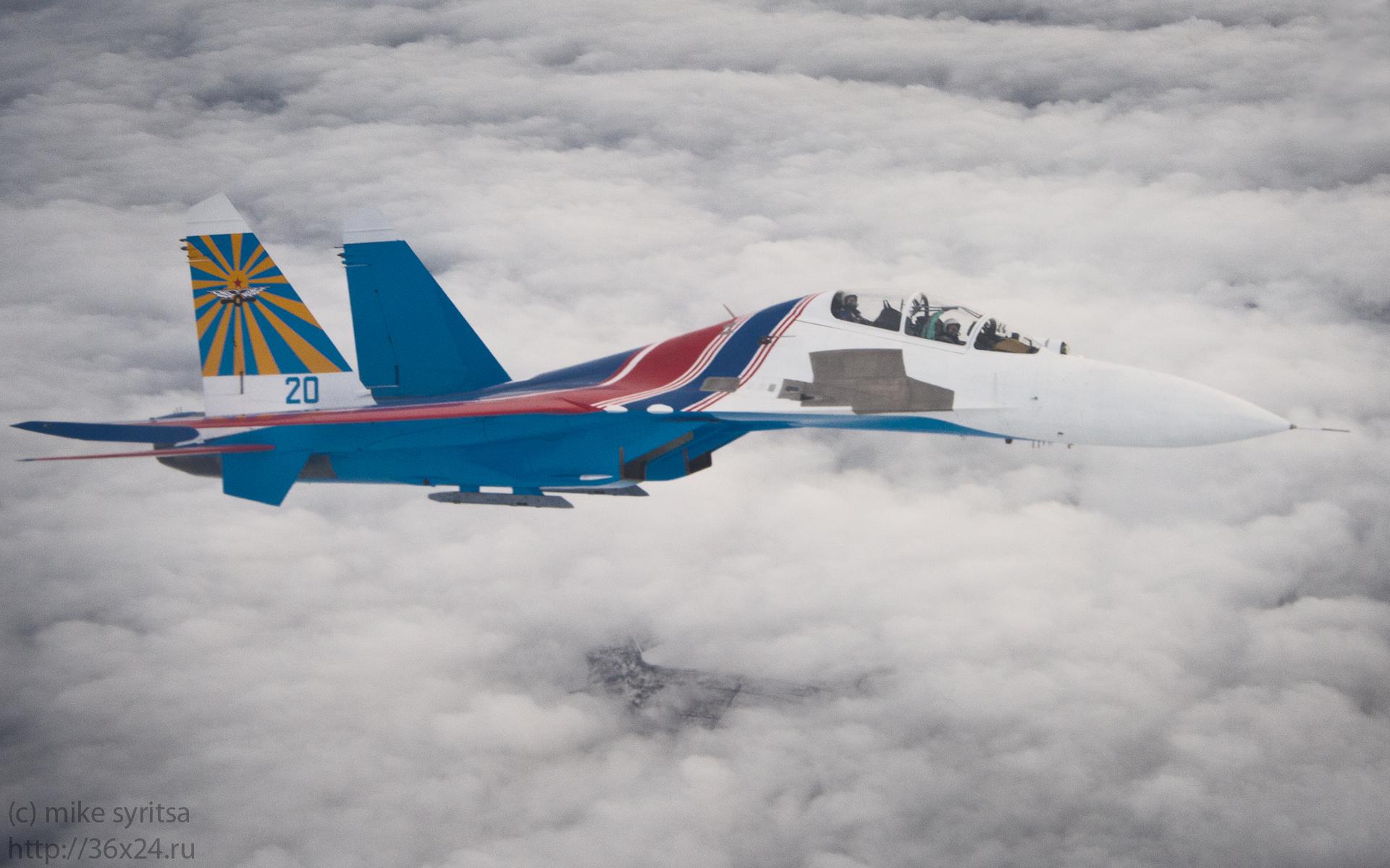 Спарка Су-27УБ Русских Витязей